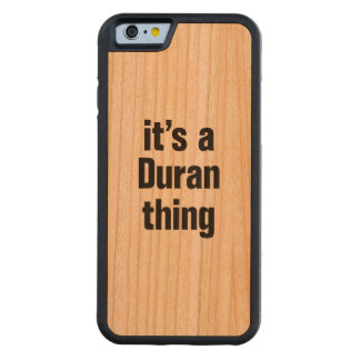 its a duran thing carved® cherry iPhone 6 bumper
