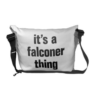 its a falconer thing commuter bags