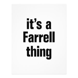 its a farrell thing 21.5 cm x 28 cm flyer