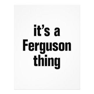"its a ferguson thing 8.5"" x 11"" flyer"