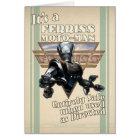 It's a Ferriss Moto-Man Greeting Card