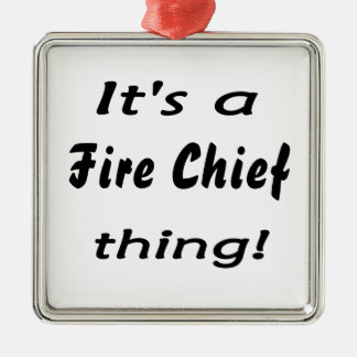 It's a fire chief thing! Silver-Colored square decoration