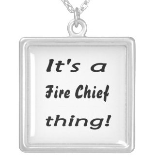 It's a fire chief thing! square pendant necklace