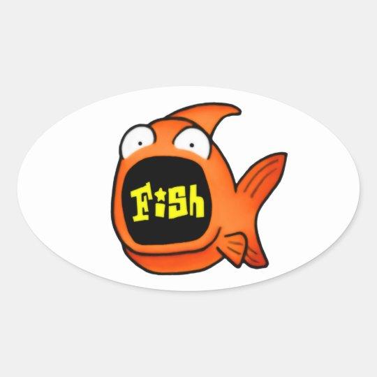 It's A Fish Oval Sticker
