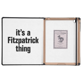 its a fitzpatrick thing iPad covers