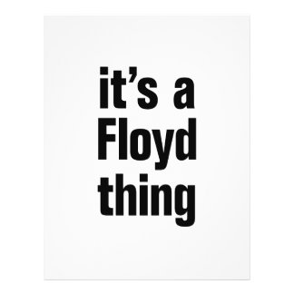 "its a floyd thing 8.5"" x 11"" flyer"