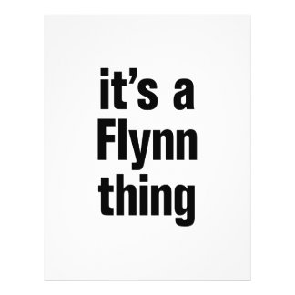 "its a flynn thing 8.5"" x 11"" flyer"