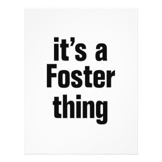 "its a foster thing 8.5"" x 11"" flyer"