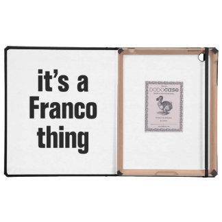 its a franco thing iPad folio case