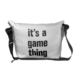 its a game thing courier bags