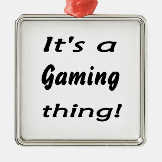 It's a gaming thing! Silver-Colored square decoration