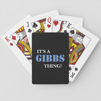 IT'S A GIBBS THING! DECK OF CARDS