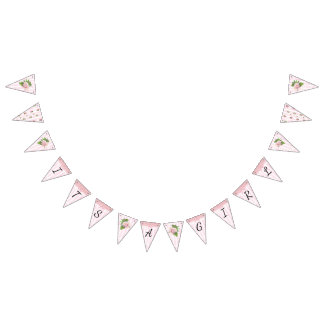 Its a Gil Floral Chic Pink Rose Baby Shower Banner