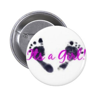 its a girl 6 cm round badge