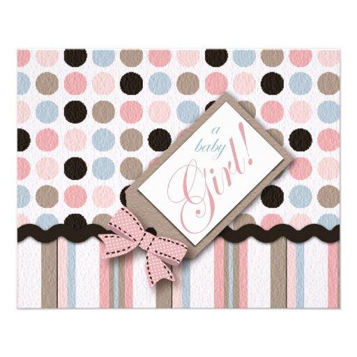 It's a Girl! Advice Card Custom Flyer