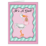 It's a Girl African American  Baby Greeting Cards