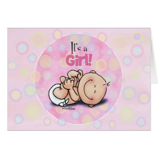 It's a Girl - Baby Congratulations! Card