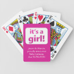 It's a girl! Baby Gender Reveal Cards Bicycle Poker Cards