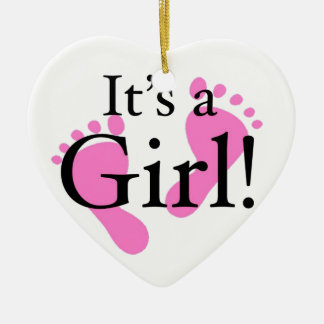 Its a Girl - Baby, Newborn, Baby Shower Christmas Ornament