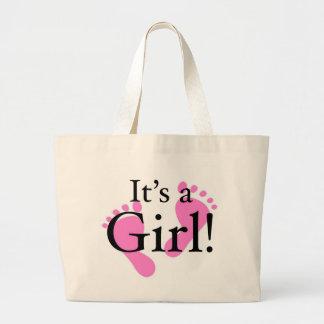 Its a Girl - Baby, Newborn, Baby Shower Jumbo Tote Bag