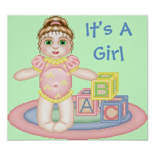 It's A Girl Baby Poster