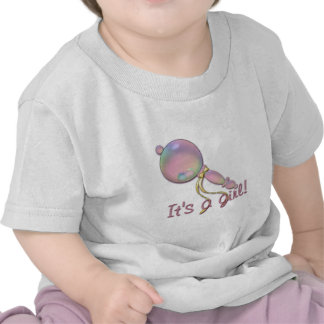 IT'S A GIRL BABY RATTLE by SHARON SHARPE Tees
