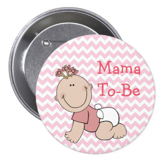 """It's a Girl"" Baby Shower Button"