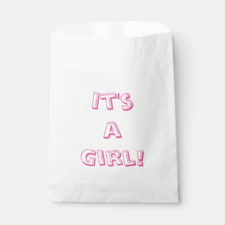 It's a Girl Baby Shower Favour Bags