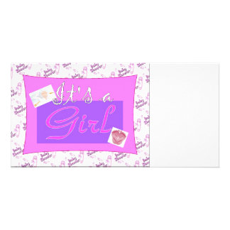 It's a girl Baby Shower Invitations Photo Cards