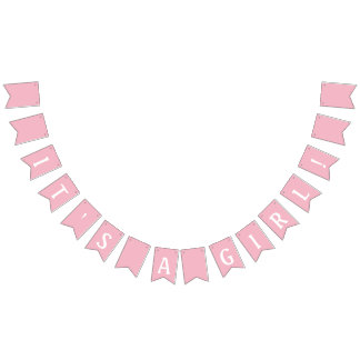 It's a Girl Baby Shower Pink Bunting