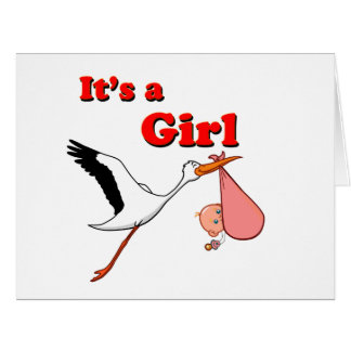 Its a Girl Big Greeting Card