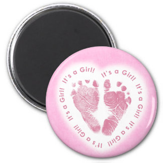 It's a Girl Birth Announcement Magnet