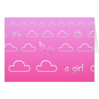 It's a Girl Birth Card
