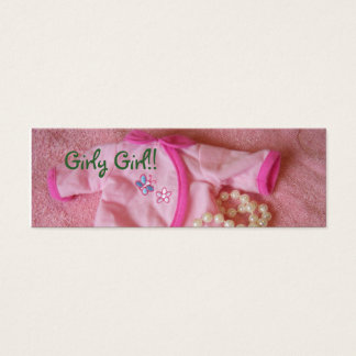 It's a Girl Bookmarks Mini Business Card