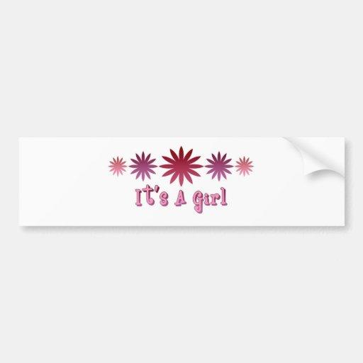 It's A Girl Bumper Stickers