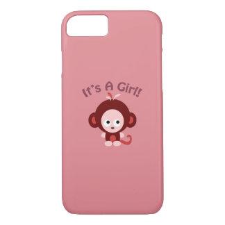 It's a girl! Cute Monkey iPhone 7 Case