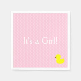 It's a Girl! Disposable Serviettes