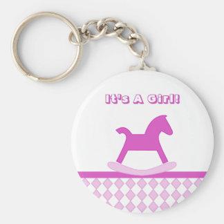 It's A Girl! Keychain