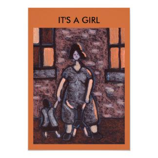 IT'S A GIRL (MOTHERHOOD) 13 CM X 18 CM INVITATION CARD