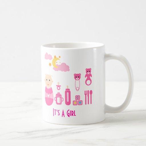 It's A Girl: Newborn Baby Nursery Mug