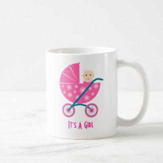 It's A Girl: Newborn Baby Save The Date Mug