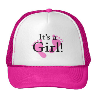 It's a Girl - Newborn shower Cap