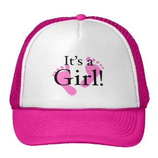 It's a Girl - Newborn shower Cap