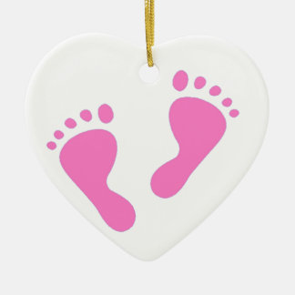 It's a Girl - Pink Baby Feet Christmas Ornament