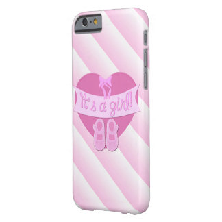It's a girl Pink Heart Bow Shoes Baby Girl Shower Barely There iPhone 6 Case
