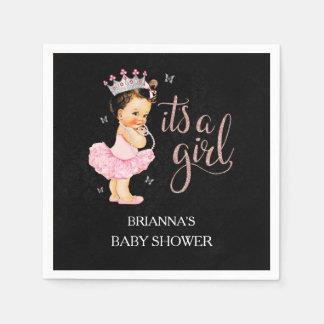 It's a Girl Princess Baby Shower Napkin Disposable Serviette