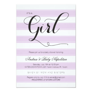 It's a Girl | Purple Baby Shower Invitation
