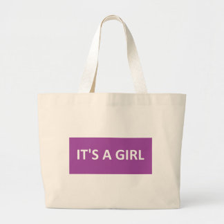 ITS A GIRL PURPLE CANVAS BAG