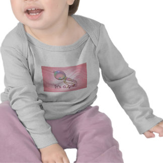 IT'S A GIRL RATTLE by SHARON SHARPE Shirts