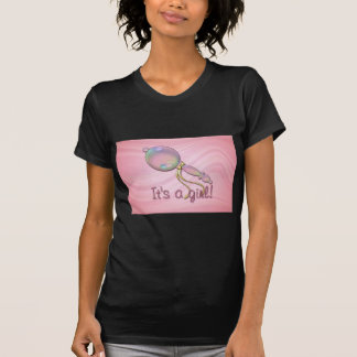 IT'S A GIRL RATTLE by SHARON SHARPE T-shirts